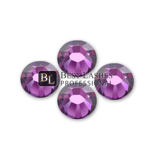 Kamienky na 3D mihalnice - Lights Amethyst 1,8 mm, 25 ks
